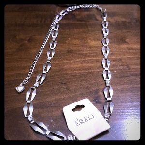 Gorgeous must have silver and diamond necklace